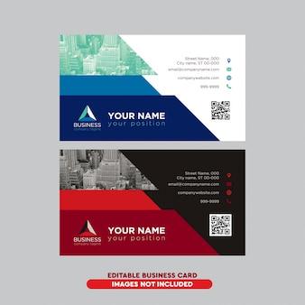 Modernes professionelles visitenkartenpaket