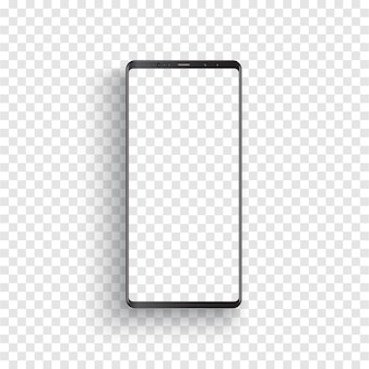 Modernes realistisches schwarzes smartphone.