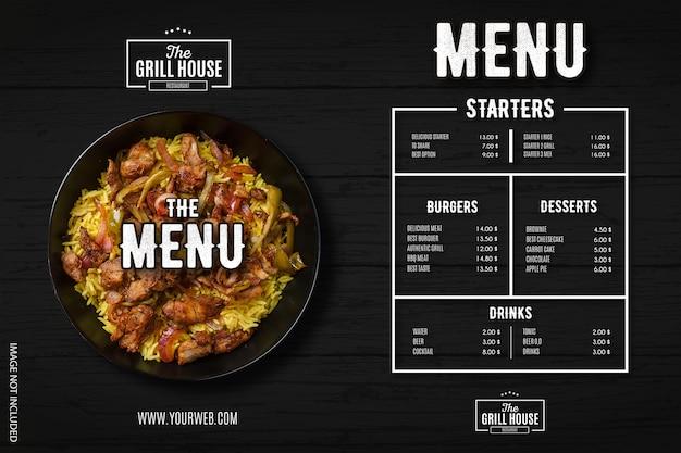 Modernes restaurantmenü mit professioneller designvorlage