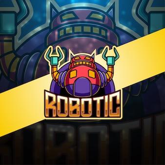 Modernes roboter-esport-maskottchen-logo