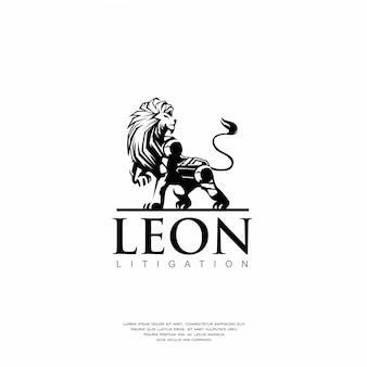 Modernes roboter-löwen-logo