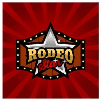 Modernes rodeo-zeichen-brettspiel-logo-design