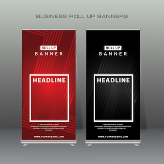Modernes roll up banner.