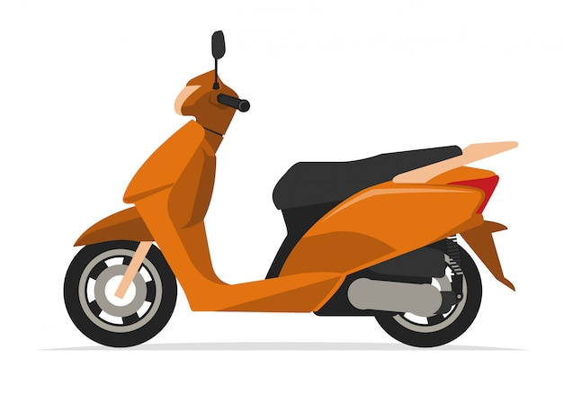 Modernes roller motorrad