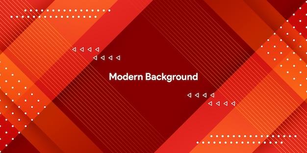 Modernes rotes geometrisches mit buntem gradientenhintergrund