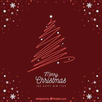 Modernes rotes weihnachtsdesign