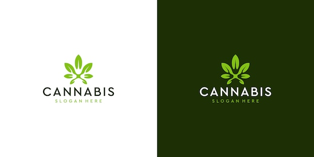 Modernes sauberes cannabis-logo deisgn