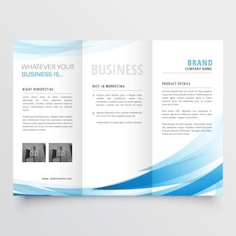 Modernes sauberes trifold-merkblatt design in größe a4