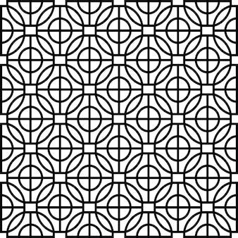 Modernes schablonenmuster der geometrischen form