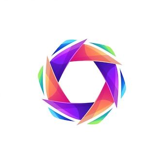 Modernes sechseck-logo