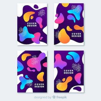 Modernes set abstrakte cover-vorlagen