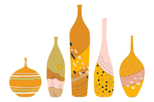 Modernes set aus keramikvasen set aus keramik für die heimdekoration