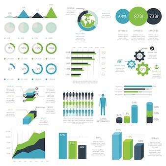 Modernes set von business infographik vektorelemente