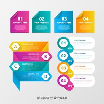 Modernes set von infografik-elementen