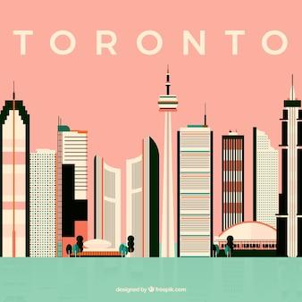 Modernes skyline-design von toronto