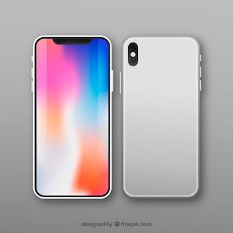 Modernes smartphone-design mit farbigem bildschirm