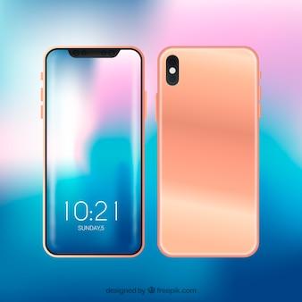 Modernes smartphone-design