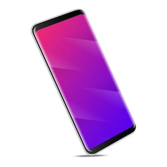 Modernes smartphone, realistischer stil