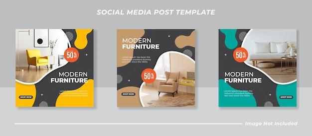 Modernes social-media-instagram-feed-post-banner-bundle