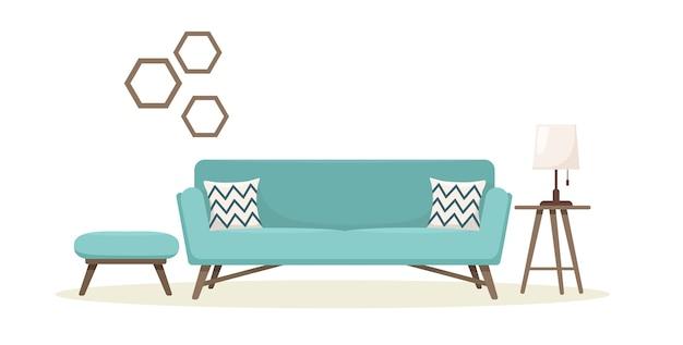 Modernes sofa mit tisch.