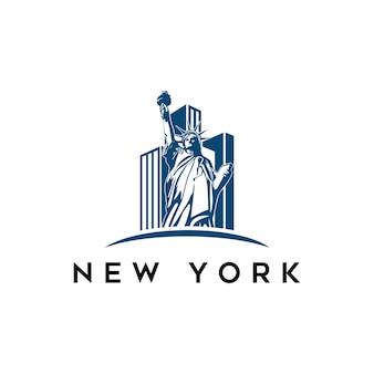 Modernes stadtlandschafts-skylinepanorama der stadt new york city
