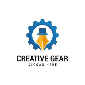 Modernes stiftrad-logo