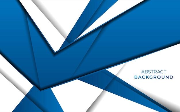 Modernes stilvolles blaues hintergrundfahnendesign mit überlappung mit papiereffekt