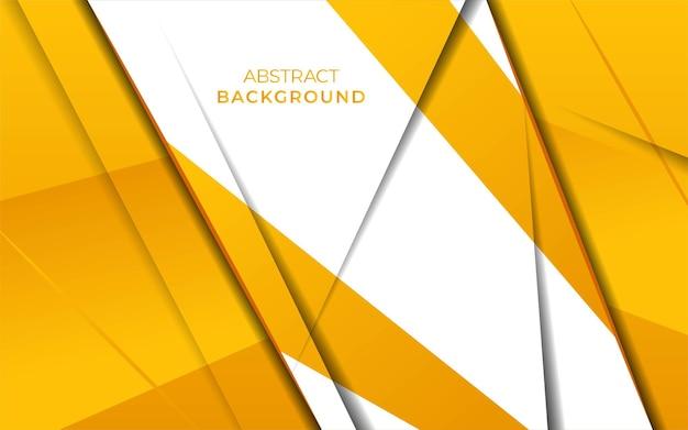 Modernes stilvolles gelbes überlappungshintergrundfahnendesign