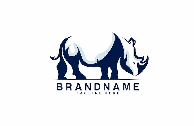 Modernes stilvolles rhino-logo