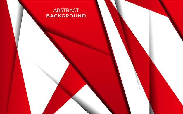 Modernes stilvolles rotes hintergrundfahnendesign mit papiereffekt
