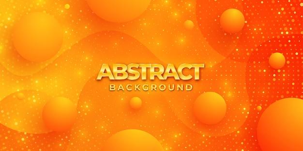 Modernes strukturiertes hintergrunddesign in der art 3d mit orange farbe.