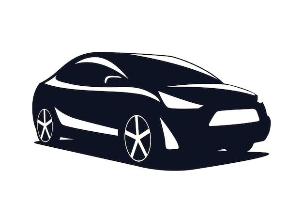 Modernes suv des logoautos lokalisiert auf einem weißen hintergrund. vektor-illustration.