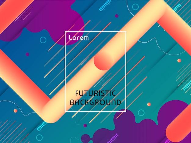Modernes techno-futuristisches hintergrunddesign