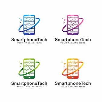 Modernes telefontechnologie-logodesign