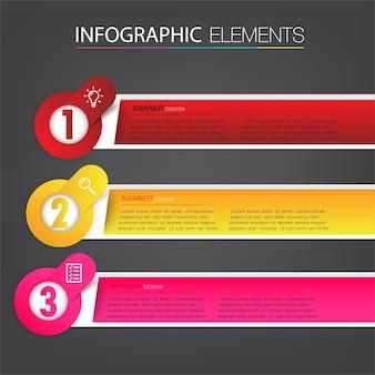 Modernes textfeld vorlage infografik banner Premium Vektoren