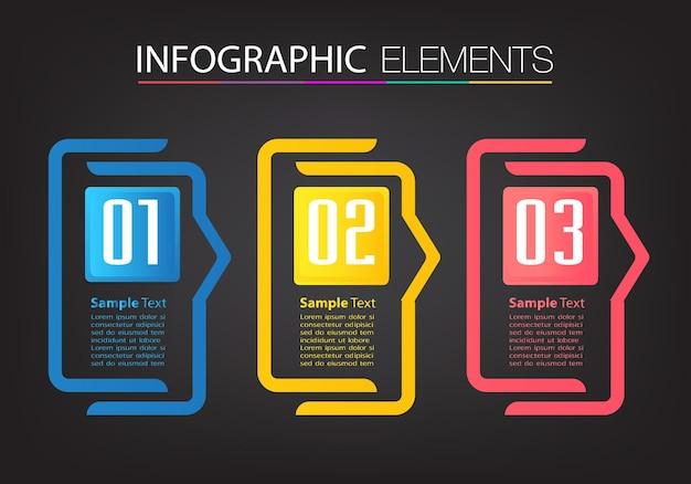 Modernes textfeld vorlage infografik banner