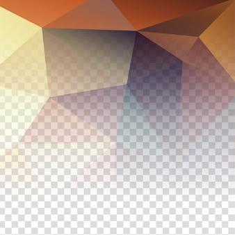Modernes transparentes geometrisches polygon