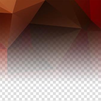 Modernes transparentes polygonales dekor