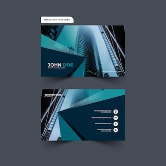 Modernes und abstraktes visitenkarten-design