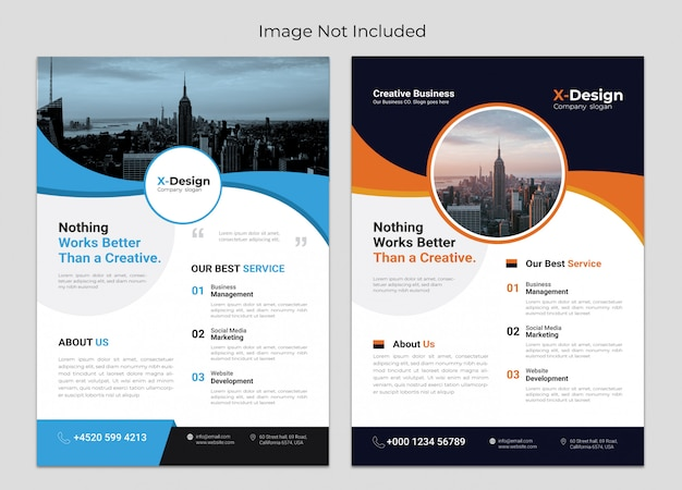 Modernes und kreatives agenturgeschäfts-flyer-design