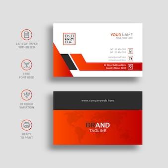 Modernes und kreatives visitenkarten-vorlagendesign