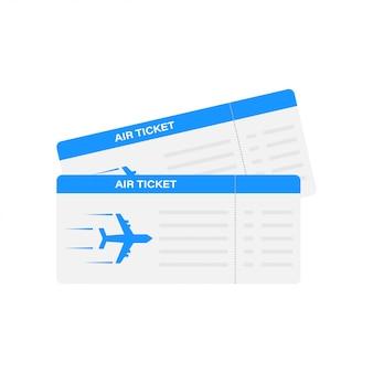 Modernes und realistisches flugticket mit flugzeit und passagiernamen