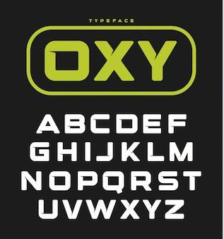 Modernes ungewöhnliches mutiges englisches alphabet.