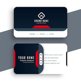 Modernes visitenkarten-design im professionellen stil