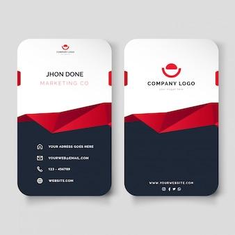 Modernes visitenkarten-design mit abstrakter form-schablone