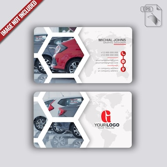 Modernes visitenkarten-design