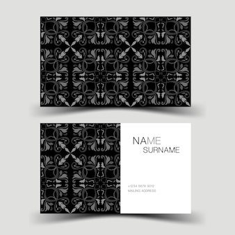 Modernes visitenkarten-vorlagendesign mit inspiration von der abstrakten kontaktkarte für unternehmen