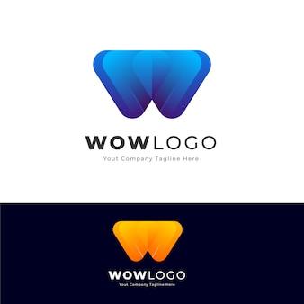 Modernes w-buchstabe-logo