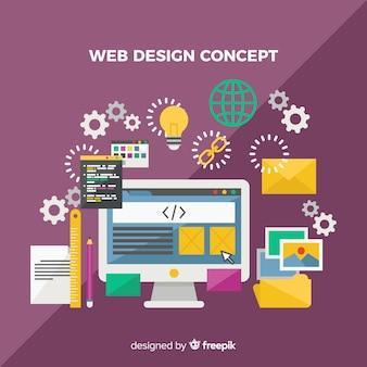 Modernes webdesignkonzept mit flacher art