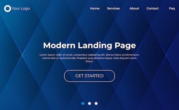 Modernes website-landingpage-design